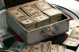 Case with 100 US dollar bills | Guide My Growth
