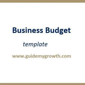 Product - Business budget | Guide My Growth